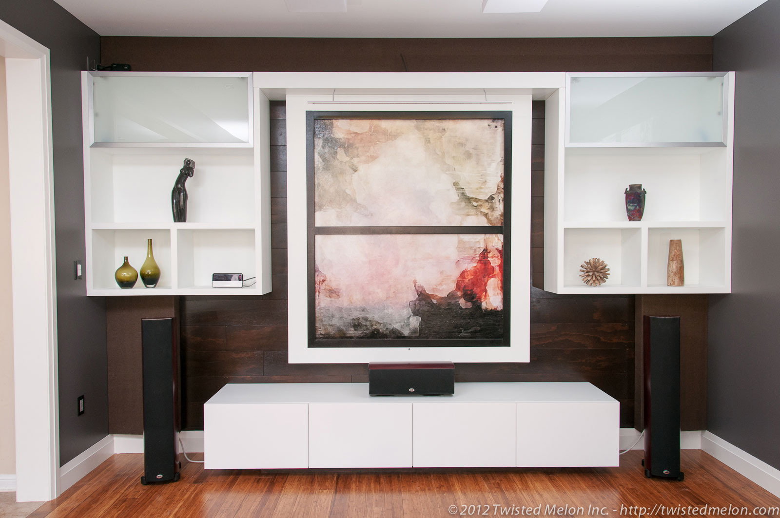 Home Theater with Motorized Artwork